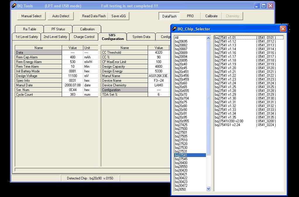 UBRT - поддержка более 100 чипов контроллеров